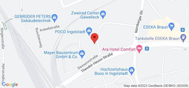 Karte zum POCO Einrichtungsmarkt Ingolstadt nicht verfügbar