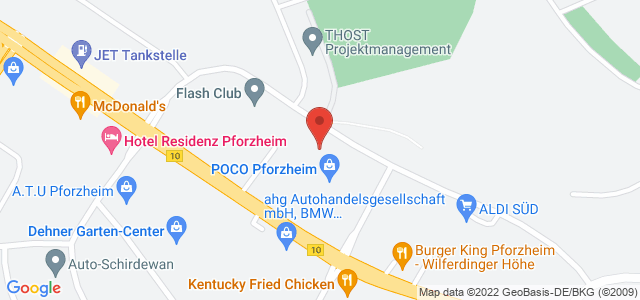 Karte zum POCO Einrichtungsmarkt Pforzheim nicht verfügbar
