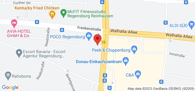 Karte zum POCO Einrichtungsmarkt Regensburg nicht verfügbar