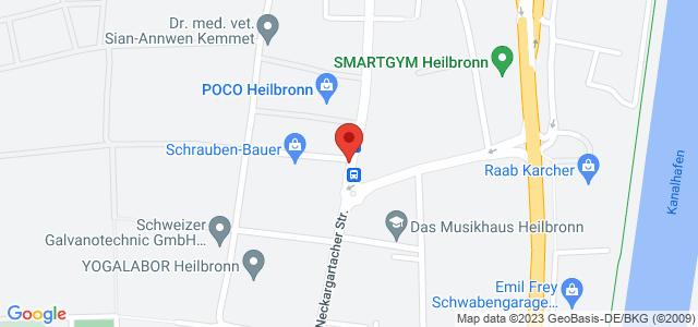 Karte zum POCO Einrichtungsmarkt Heilbronn nicht verfügbar