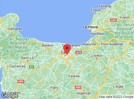 CASTORAMA Caen Hérouville map