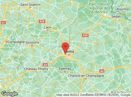 CASTORAMA Reims Thillois map