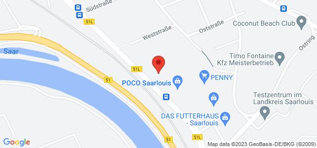 Karte zum POCO Einrichtungsmarkt Saarlouis nicht verfügbar