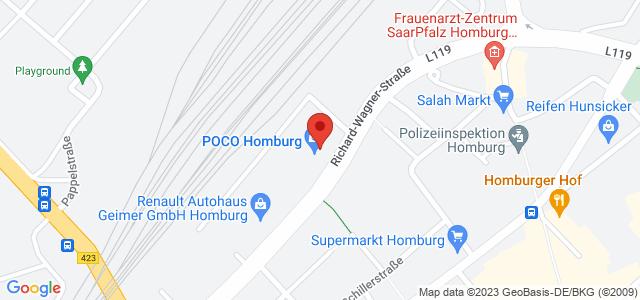 Karte zum POCO Einrichtungsmarkt Homburg nicht verfügbar