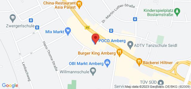 Karte zum POCO Einrichtungsmarkt Amberg nicht verfügbar