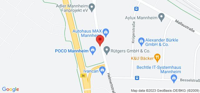 Karte zum POCO Einrichtungsmarkt Mannheim nicht verfügbar