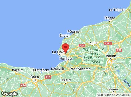 CASTORAMA Le Havre map