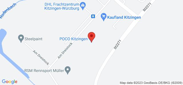 Karte zum POCO Einrichtungsmarkt Kitzingen nicht verfügbar