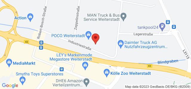 Karte zum POCO Einrichtungsmarkt Weiterstadt nicht verfügbar