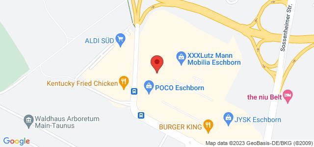 Karte zum POCO Einrichtungsmarkt Eschborn nicht verfügbar