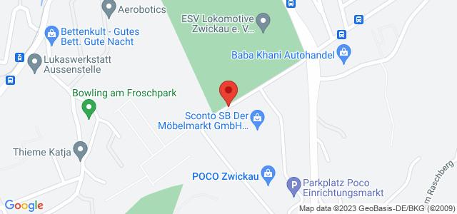 Karte zum POCO Einrichtungsmarkt Zwickau nicht verfügbar