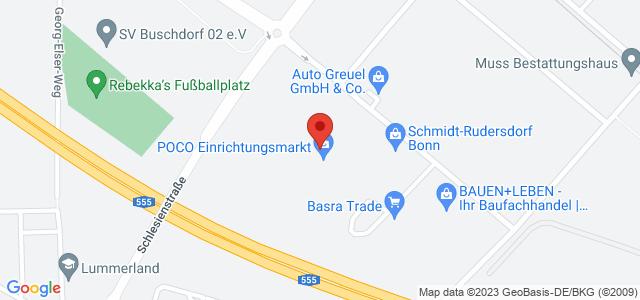 Karte zum POCO Einrichtungsmarkt Bonn nicht verfügbar