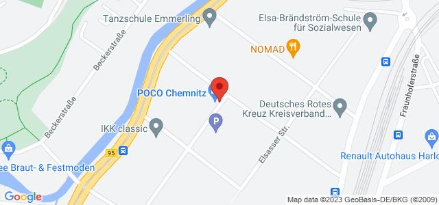 Karte zum POCO Einrichtungsmarkt Chemnitz nicht verfügbar