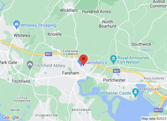 Fareham Car Centre's location