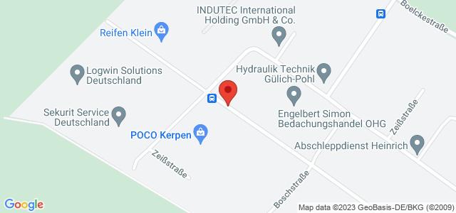Karte zum POCO Einrichtungsmarkt Kerpen nicht verfügbar