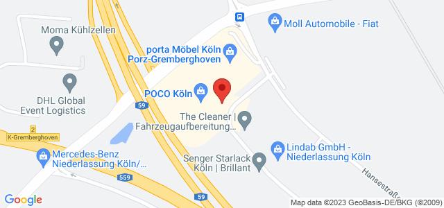 Karte zum POCO Einrichtungsmarkt Köln nicht verfügbar