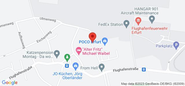 Karte zum POCO Einrichtungsmarkt Erfurt nicht verfügbar