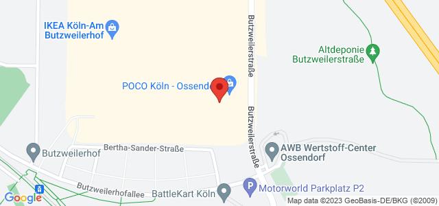 Karte zum POCO Einrichtungsmarkt Köln-Ossendorf nicht verfügbar