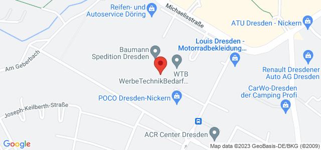 Karte zum POCO Einrichtungsmarkt Dresden-Nickern nicht verfügbar
