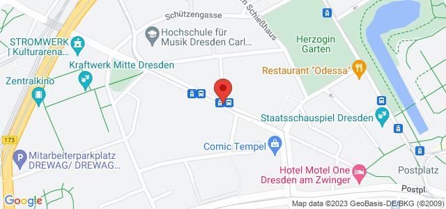 Karte zum POCO Einrichtungsmarkt Dresden-Markthalle nicht verfügbar