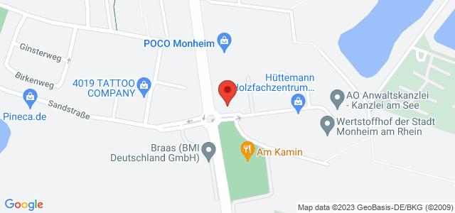 Karte zum POCO Einrichtungsmarkt Monheim nicht verfügbar