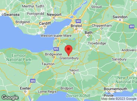 B&Q Glastonbury map