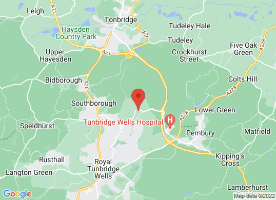 Bentley Tunbridge Wells's location