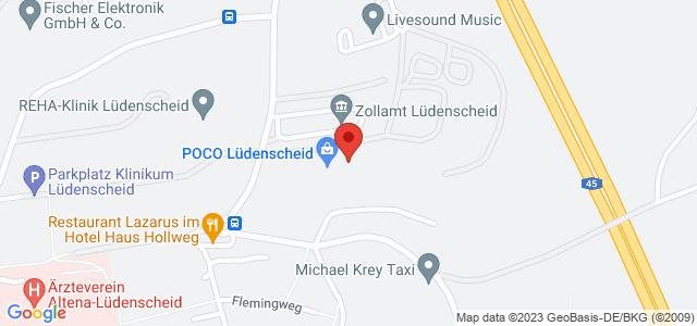 Karte zum POCO Einrichtungsmarkt Lüdenscheid nicht verfügbar