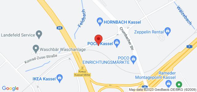 Karte zum POCO Einrichtungsmarkt Kassel nicht verfügbar