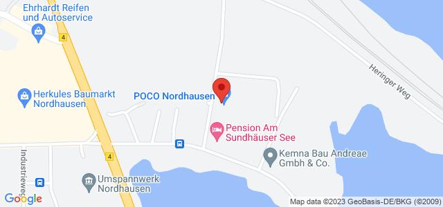 Karte zum POCO Einrichtungsmarkt Nordhausen nicht verfügbar