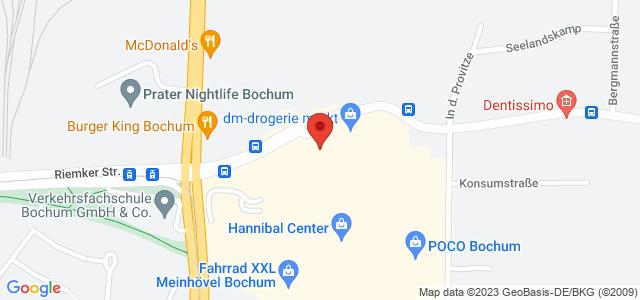 Karte zum POCO Einrichtungsmarkt Bochum nicht verfügbar