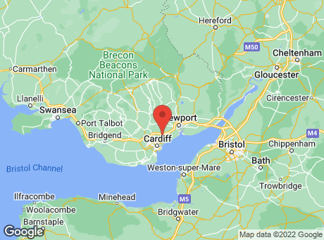 B&Q Cardiff - Dering Road map