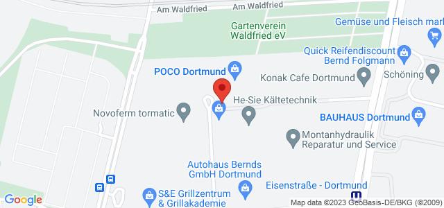 Karte zum POCO Einrichtungsmarkt Dortmund nicht verfügbar