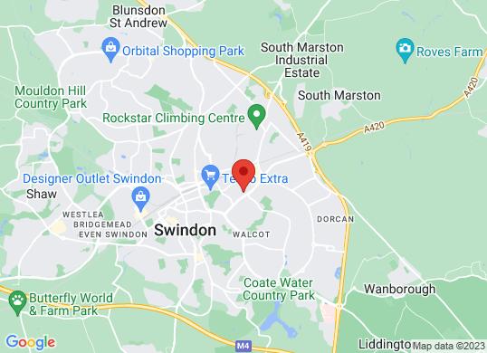 The Car Shop Swindon's location