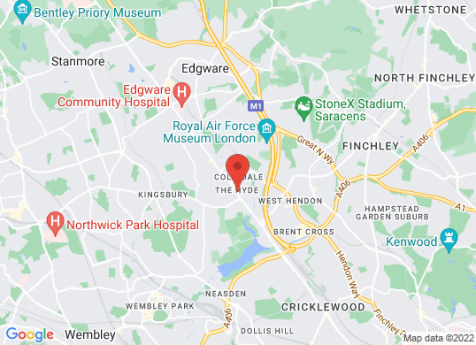Jemca Lexus Edgware Road's location