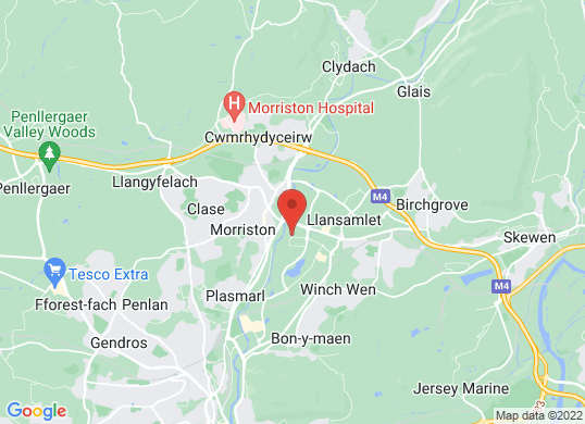 Hutchings Hyundai Swansea's location