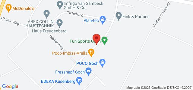 Karte zum POCO Einrichtungsmarkt Goch nicht verfügbar
