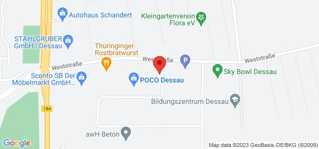 Karte zum POCO Einrichtungsmarkt Dessau nicht verfügbar