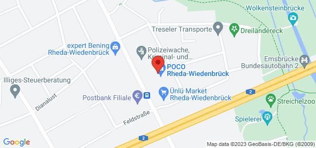 Karte zum POCO Einrichtungsmarkt Rheda-Wiedenbrück nicht verfügbar