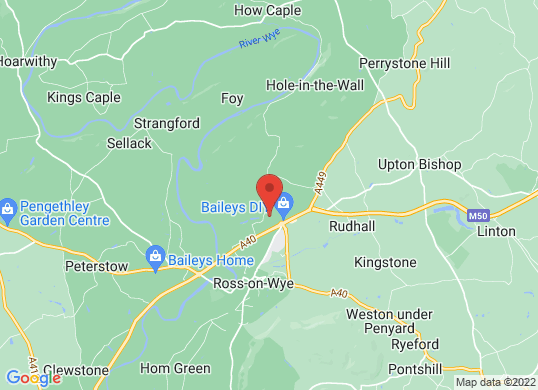 Wye Valley Ssangyong's location