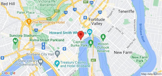 Brisbane Marriott location on map