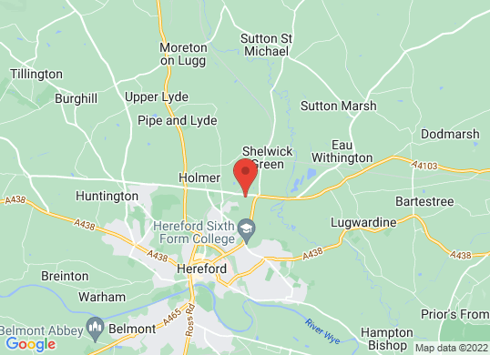 Listers Land Rover Hereford's location