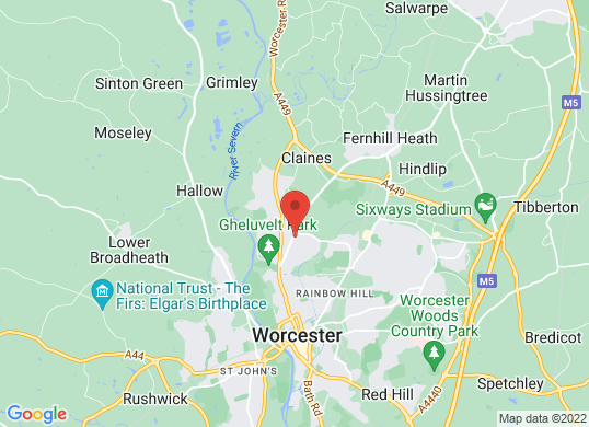 Worcester Used Car Centre's location