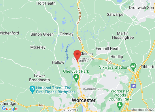 Listers SEAT Worcester's location