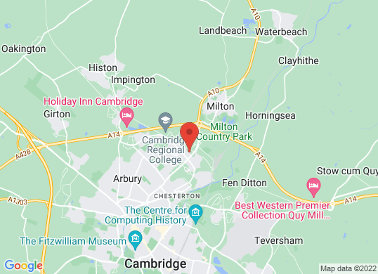EMG Cambridge's location