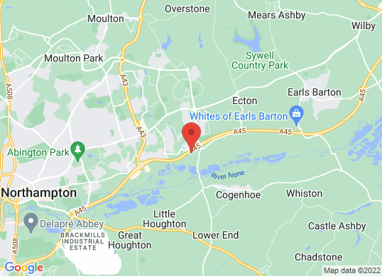 The Car Shop Northampton's location