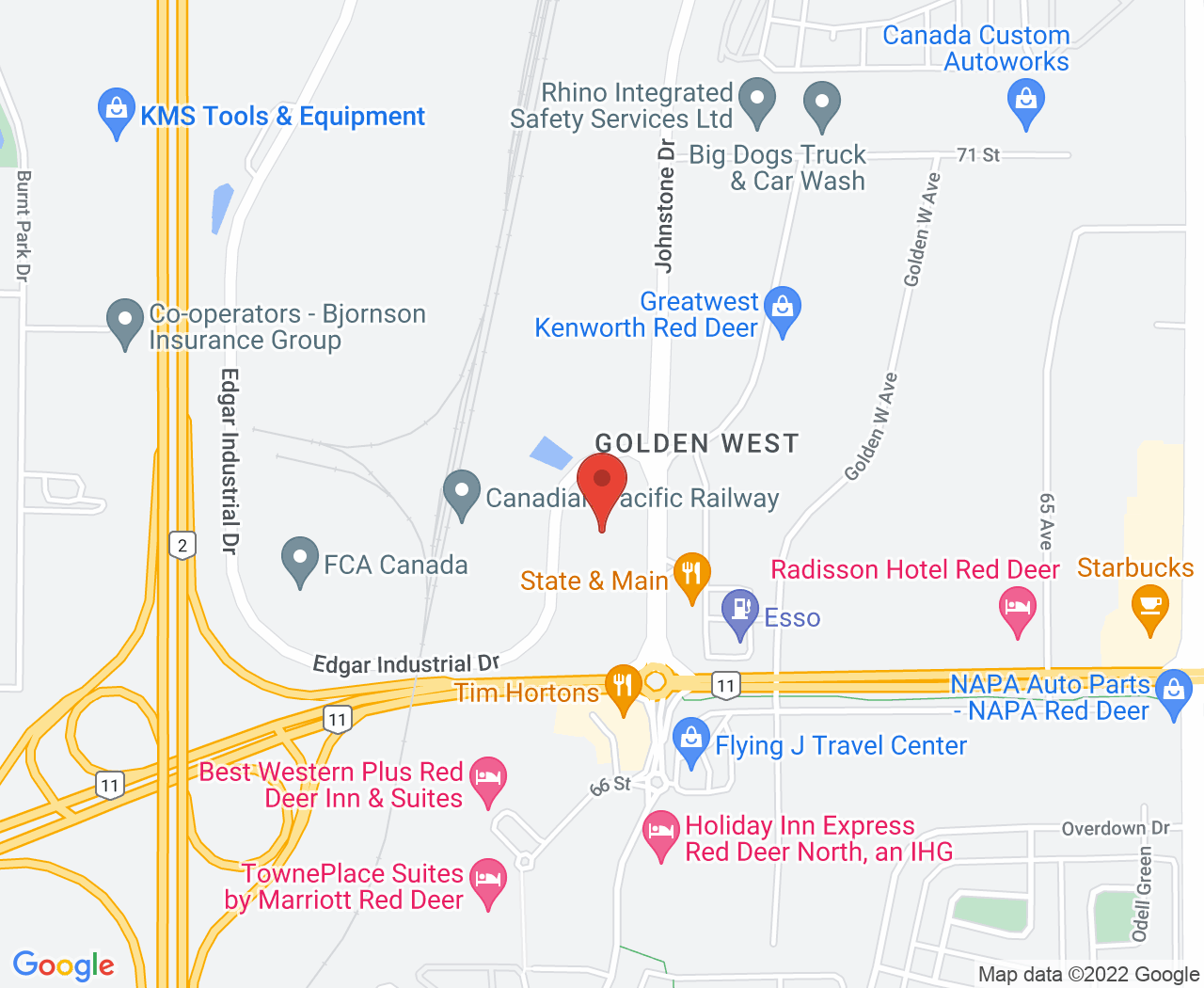 Map of Money Mentors Red Deer Office Location