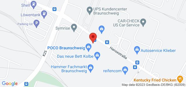 Karte zum POCO Einrichtungsmarkt Braunschweig nicht verfügbar