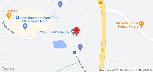Karte zum POCO Einrichtungsmarkt Frankfurt/Oder nicht verfügbar