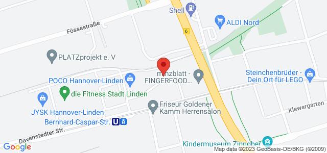 Karte zum POCO Einrichtungsmarkt Hannover-Linden nicht verfügbar